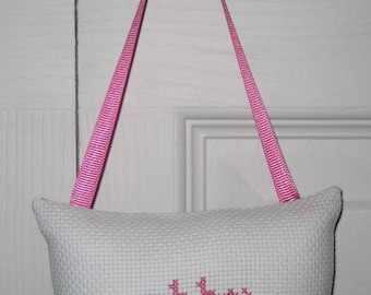 Abby Counted Cross Stitch Hanging Pillow