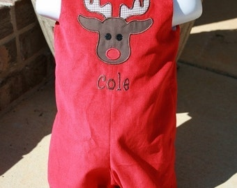 Boys Christmas Reindeer Outfit Size 3mo to 4T