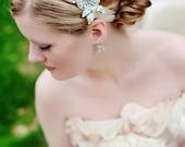 CHANDLER- Crystal, Wedding, Bridal, Headpiece, headband, rhinestone, floral