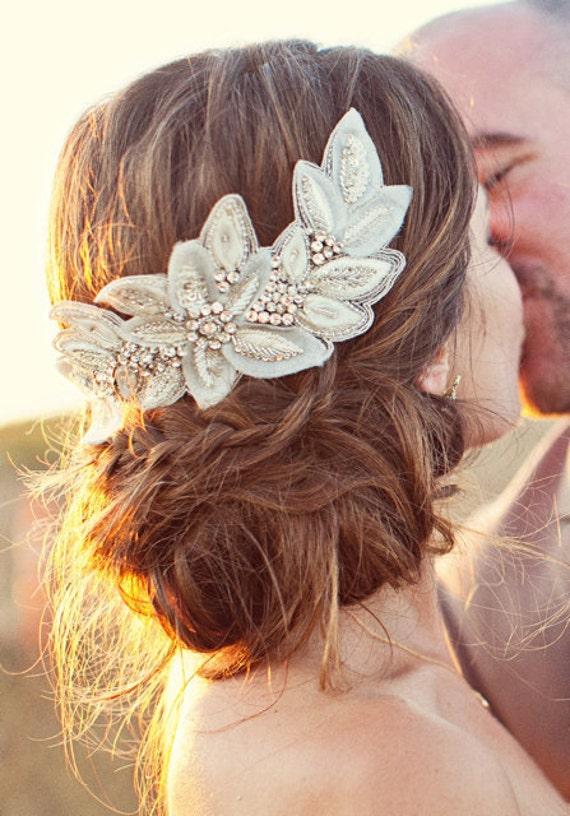 BIANCA Clip -  bridal, comb, rhinestone, head piece