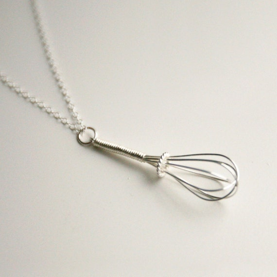 Wire Whisk - Handmade Sterling Necklace