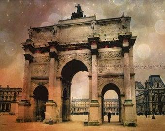 Paris Photography,  Louvre Museum, Paris Architecture, Tuileries Palace, Paris Landmarks, Paris Fine Art Sepia Photography