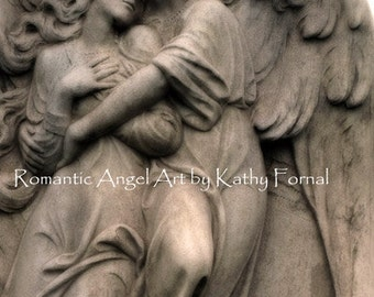 Angel Photography, Angel of Protection Print, Guardian Angel Art Photos, Romantic Embracing Angels Art, Angel Photography Fine Art Print