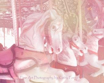 Carousel Horses Photo, Merry Go Round Horses, Baby Girl Nursery Decor, Carousel Carnival Horses, Paris Carousel Horses, Paris Baby Nursery