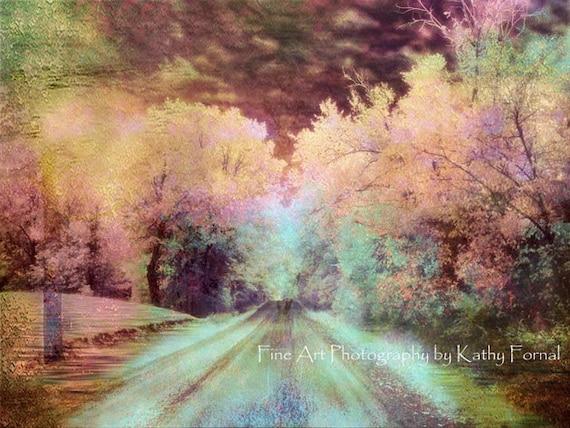 Nature Photography, Surreal Fantasy Landscape, Dreamy Teal Pink Fantasy Nature Photography, Fairytale Landscape Photo, Baby Girl Nursery Art
