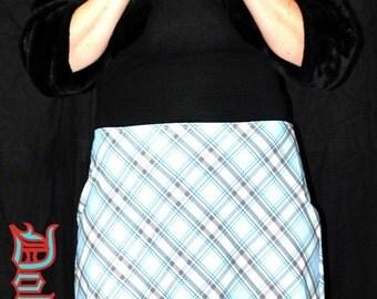 SALE....Hot Rod Blues Rockabilly Pencil Skirt....Treasure Worthy.......SIZE S ....Last One