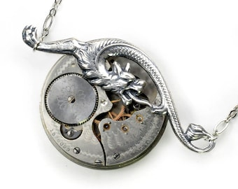 Early 1900's Pocket Watch Steampunk Necklace