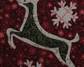 Brushed Reindeer - Quilted Christmas Wall Hanging Pattern Download