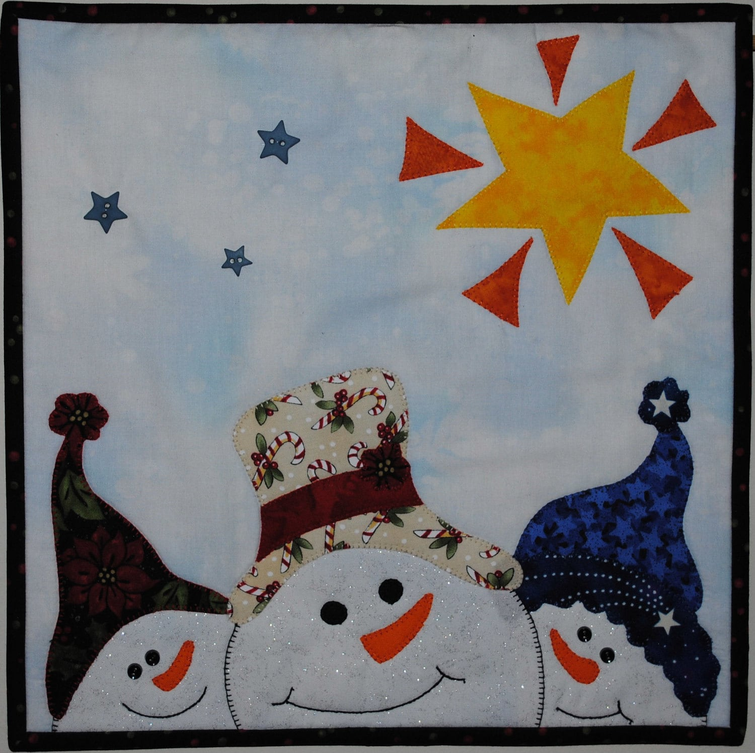 Do You See Quilted Wall Hanging Snowman Pattern Download