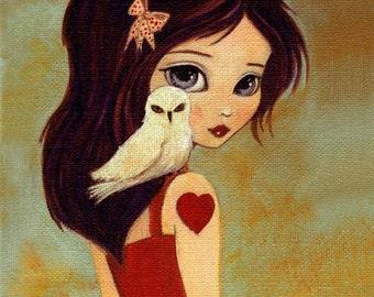 Owlways Print 8x10 - Owl, Girl, Children's Art, Girls Room Art, Poster, Girl Art, Art for Kids, Girls Decor, Art for Girls, Cute, Whimsical