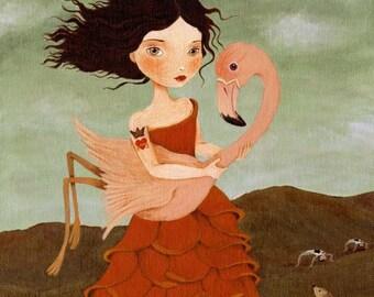 The Red Queen Print 8x10 - Alice In Wonderland Art, Children's Art, Girls Room Art, Girl Art Print, Girls Art, Poster, Art for Kids, Rose