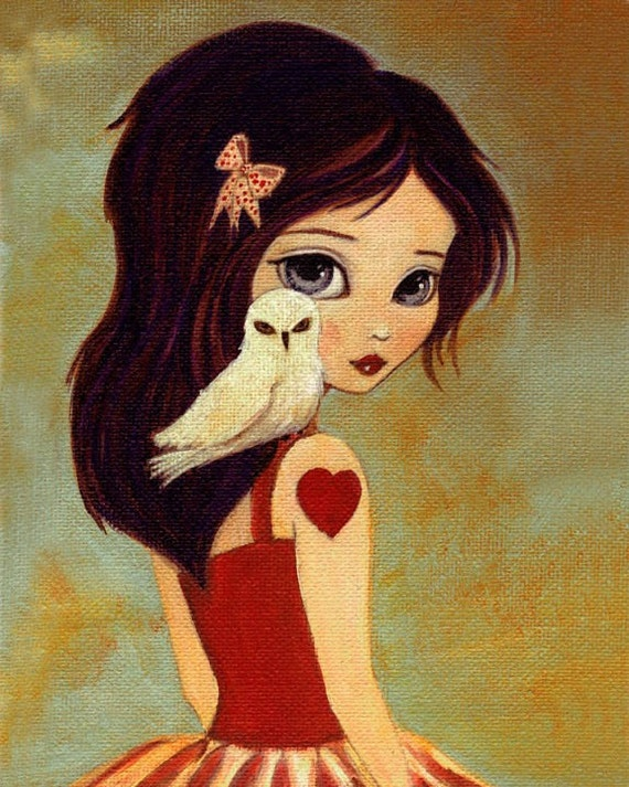 owlways print 8x10 owl girl children 39 s art girls room