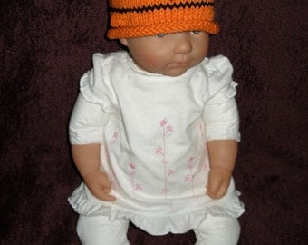 Treena the Tiger Hat  and Booties Set