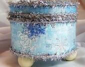 Frozen, Treasure Box, Trinket Box, Jewelry Box, Blue, Ice, Snow, Princess, Gifts for Her, Aqua, Snowflakes, Home Decor, Gift Box, Party Box