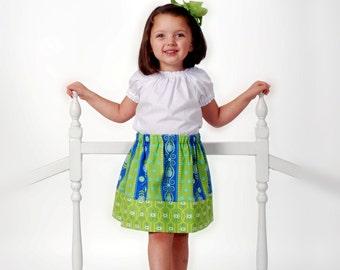 Girl Skirt PDF Pattern,Sewing Pattern,  Easy Sewing Pattern, Patterns Skirt,Sew Sassy New Applique Design