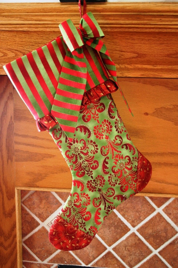 Christmas Stocking Pattern PDF FREE Big Bow Pattern Christmas