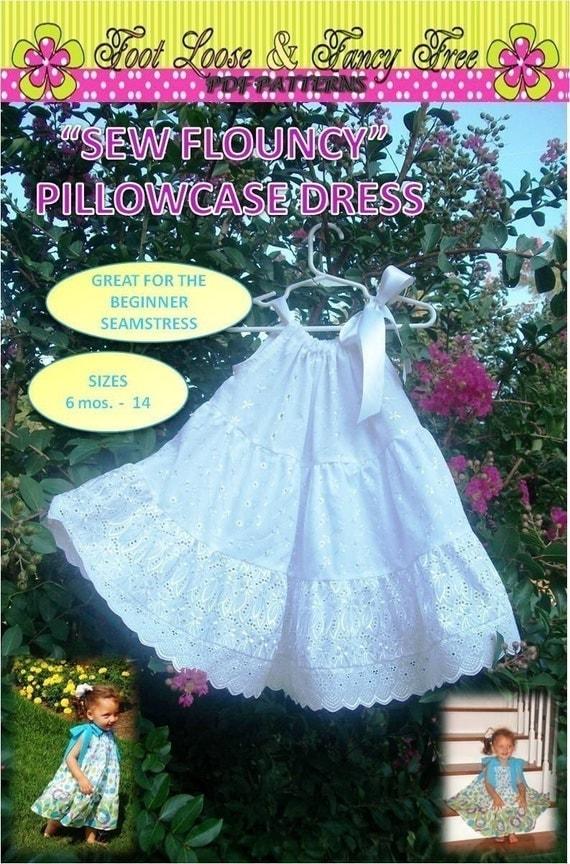 Summer Sundress - Summer Dress - Tiered Pillowcase Dress - Sew Flouncy Sundress Pattern PDF Patterns Children Clothing Handmade Dress