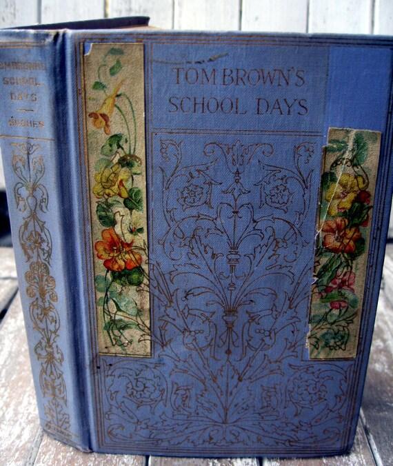 Antique/Vintage book, Tom Brown's School Days, 1800's