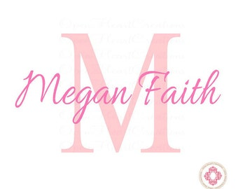 Name Wall Decal - Personalized Baby Boy or Girl Wall Decal for Baby Nursery Room Decor  IN0042