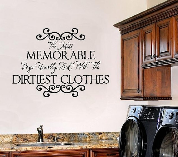 Laundry Room Wall Sayings - Vinyl Wall Decals Quote Lettering Transfer Stickers 22h x 32w LR0010