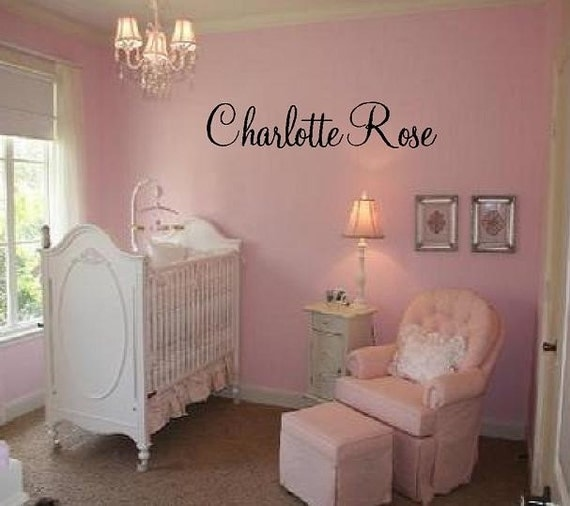 Custom Name Vinyl Wall Decal Elegant And Fun Baby Nursery Girl