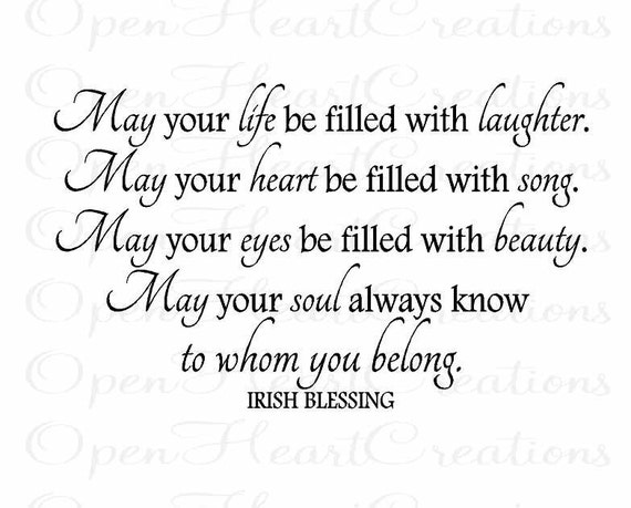 Wall Decals Irish Blessing Vinyl Wall Quote May Your Life - Nursery wall decals ireland