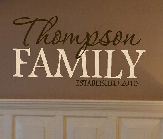 Family name wall decal personalized and custom vinyl wall for The best of family decals for walls