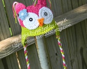Baby Girl, Baby Girl Owl hat, Crochet Owl Hats,  Crochet Baby Hats, Baby Girl Hats