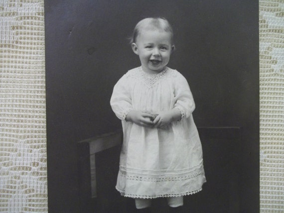 Cute Little Smiling Baby - Real Photo Postcard - Identified - early 1900's