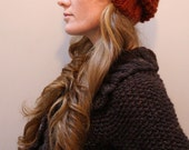 KNITTING PATTERN // Autumn // hat seed stitch super bulky PDF