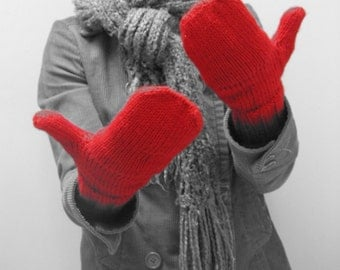 KNITTING PATTERN // Red is Best mittens // worsted pop top mitts -- PDF