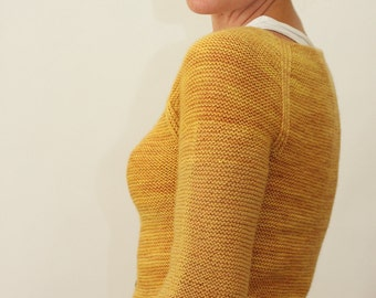 KNITTING PATTERN // Audrey cardigan // top-down sock yarn sweater -- PDF