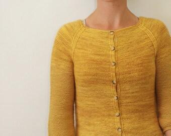 KNITTING PATTERN // Audrey cardigan // top-down sock yarn sweater -- PDF