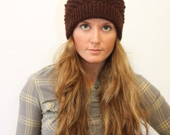 KNITTING PATTERN // Bailey // worsted bramble stitch toque hat -- PDF