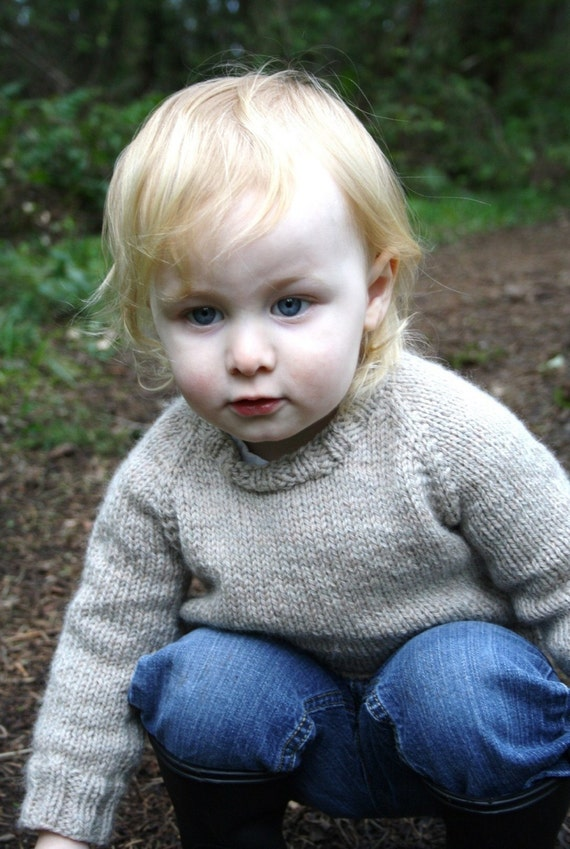 KNITTING PATTERN // Child's Classic Raglan Pullover // top down worsted sweater PDF