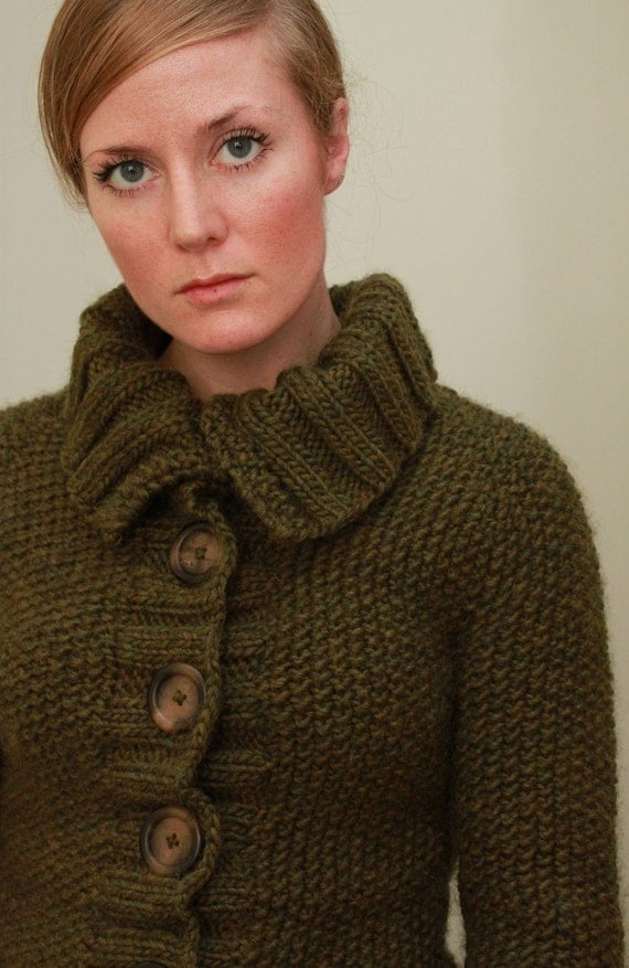 KNITTING PATTERN // Sedum cardigan // top-down seed stitch