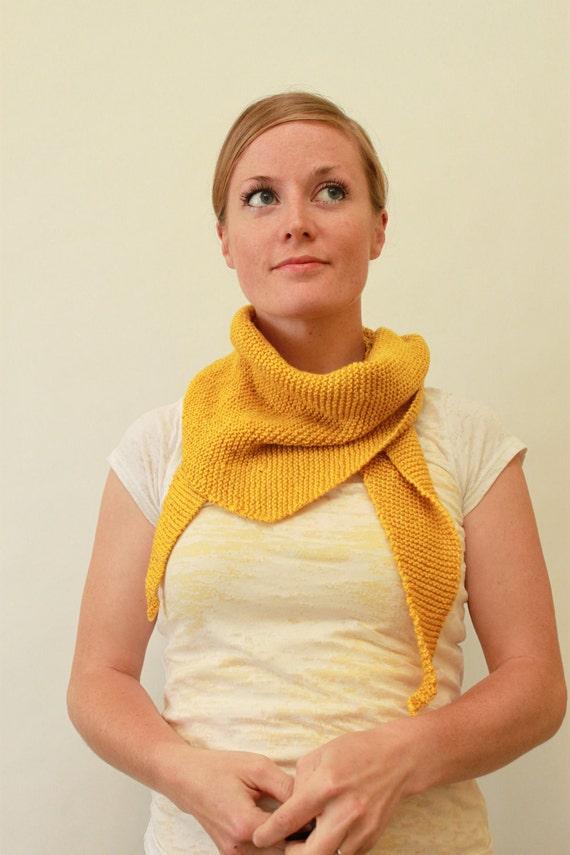 KNITTING PATTERN // Rae scarf // garter stitch -- PDF