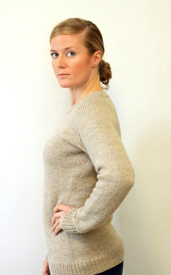 Raglan Pullover Knitting Pattern : Knitting pattern ladies classic raglan pullover top down
