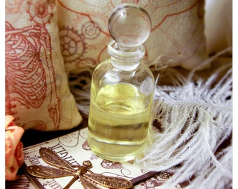 the alchemist's bottle - natural perfume/cologne oil held captive in 1/2 oz old world apothecary bottle - over 60 aromas to choose from