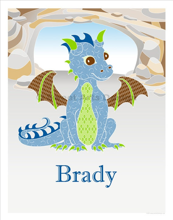 Dragon in Cave  -  Wall Print (or) Greeting Cards