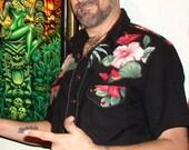 Made to Order: Howdyloha Retro Style Western Hawaiian Shirt Custom fit for men and women