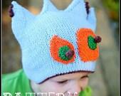 make your own Green Eyed Monster (DIGITAL KNITTING PATTERN) Newborn, Infant, Toddler, Child
