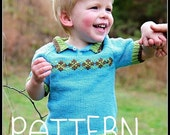 make your own Jesse Polo Sweater (DIGITAL KNITTING PATTERN) Infant Toddler Child Boys