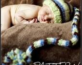 make your own Chunky Striped Stocking Cap (DIGITAL KNITTING PATTERN) newborn baby toddler