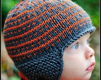 make your own Simply Fair Isle Cap (DIGITAL KNITTING PATTERN) newborn baby toddler child