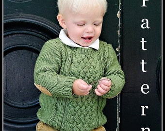 make your own Master Charles Sweater (DIGITAL KNITTING PATTERN) 6 months to age 10