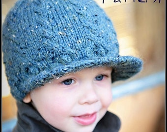 make your own Cabled Tweedy Topper (DIGITAL KNITTING PATTERN) baby toddler child adult