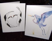 Cranes and Herons Note Card Gift Package