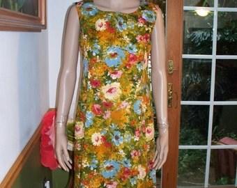 Womens Dress ~ Floral ~ Sleeveless Dress