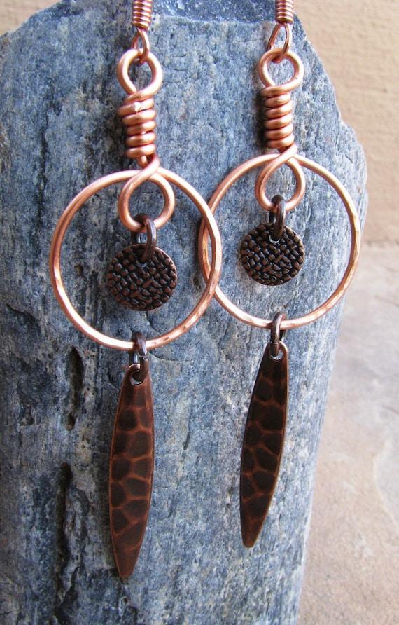 Desert Sands Copper Dangle Earrings